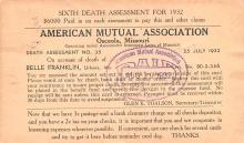 adv025155 - Insurance Advertising Old Vintage Antique Post Card