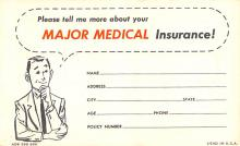 adv025159 - Insurance Advertising Old Vintage Antique Post Card