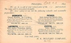 adv028085 - Medicine Advertising Old Vintage Antique Post Card