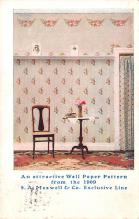 adv032007 - Paint & Wallpaper Advertising Old Vintage Antique Post Card