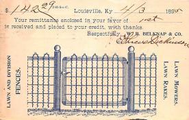 adv033003 - Pionner Advertising (1893 - 1898) Old Vintage Antique Post Card