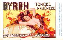 adv100021 - Advertising Byrrh Postcard Tonique Hygienique A Base De Vins Genereux de Quinquina Old Vintage Antique Post Card