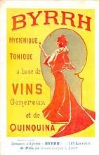 adv100055 - Advertising Byrrh Postcard Tonique Hygienique A Base De Vins Genereux de Quinquina Old Vintage Antique Post Card