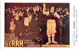 adv100061 - Advertising Byrrh Postcard Tonique Hygienique A Base De Vins Genereux de Quinquina Old Vintage Antique Post Card