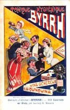 adv100087 - Advertising Byrrh Postcard Tonique Hygienique A Base De Vins Genereux de Quinquina Old Vintage Antique Post Card