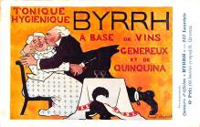adv100091 - Advertising Byrrh Postcard Tonique Hygienique A Base De Vins Genereux de Quinquina Old Vintage Antique Post Card