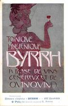 adv100095 - Advertising Byrrh Postcard Tonique Hygienique A Base De Vins Genereux de Quinquina Old Vintage Antique Post Card