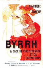 adv100105 - Advertising Byrrh Postcard Tonique Hygienique A Base De Vins Genereux de Quinquina Old Vintage Antique Post Card