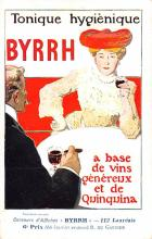 adv100117 - Advertising Byrrh Postcard Tonique Hygienique A Base De Vins Genereux de Quinquina Old Vintage Antique Post Card