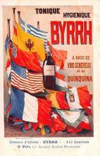 adv100159 - Advertising Byrrh Postcard Tonique Hygienique A Base De Vins Genereux de Quinquina Old Vintage Antique Post Card