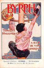 adv100169 - Advertising Byrrh Postcard Tonique Hygienique A Base De Vins Genereux de Quinquina Old Vintage Antique Post Card