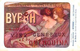adv100177 - Advertising Byrrh Postcard Tonique Hygienique A Base De Vins Genereux de Quinquina Old Vintage Antique Post Card