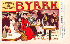 adv100183 - Advertising Byrrh Postcard Tonique Hygienique A Base De Vins Genereux de Quinquina Old Vintage Antique Post Card