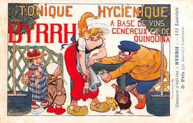 adv100185 - Advertising Byrrh Postcard Tonique Hygienique A Base De Vins Genereux de Quinquina Old Vintage Antique Post Card