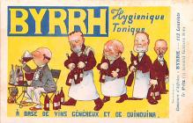 adv100189 - Advertising Byrrh Postcard Tonique Hygienique A Base De Vins Genereux de Quinquina Old Vintage Antique Post Card