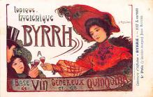 adv100191 - Advertising Byrrh Postcard Tonique Hygienique A Base De Vins Genereux de Quinquina Old Vintage Antique Post Card