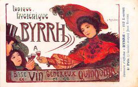 adv100191 - Advertising Byrrh Postcard Tonique Hygienique A Base De Vins Genereux de Quinquina Old Vintage Antique Post Card
