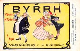 adv100193 - Advertising Byrrh Postcard Tonique Hygienique A Base De Vins Genereux de Quinquina Old Vintage Antique Post Card
