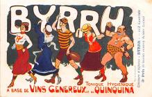 adv100195 - Advertising Byrrh Postcard Tonique Hygienique A Base De Vins Genereux de Quinquina Old Vintage Antique Post Card