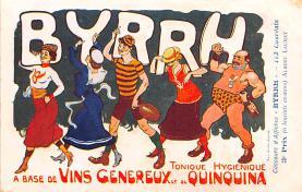 adv100195 - Advertising Byrrh Postcard Tonique Hygienique A Base De Vins Genereux de Quinquina Old Vintage Antique Post Card