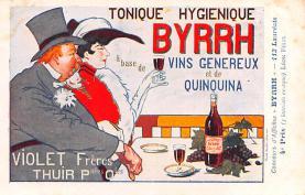 adv100197 - Advertising Byrrh Postcard Tonique Hygienique A Base De Vins Genereux de Quinquina Old Vintage Antique Post Card