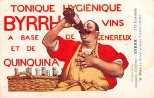 adv100199 - Advertising Byrrh Postcard Tonique Hygienique A Base De Vins Genereux de Quinquina Old Vintage Antique Post Card
