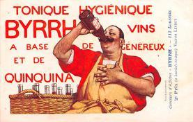 adv100199 - Advertising Byrrh Postcard Tonique Hygienique A Base De Vins Genereux de Quinquina Old Vintage Antique Post Card