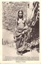 afr000074 - Sudanese Woman African Nude Nudes Postcard Post Card