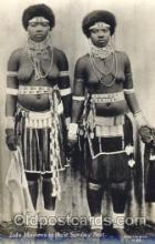 afr000076 - Zulu Maidens African Nude Nudes Postcard Post Card