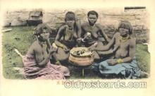afr000082 - Breakfast, Zulus African Nude Nudes Postcard Post Card