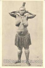 afr001069 - African Nude Nudes Postcard Post Card