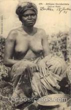 afr001155 - African Nude Nudes Postcard Post Card