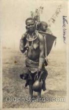 afr001182 - African Nude Nudes Postcard Post Card
