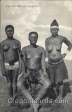 afr001195 - African Nude Nudes Postcard Post Card