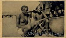 afr001214 - African Nude Nudes Postcard Post Card