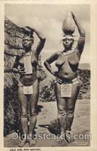 afr001255 - African Nude Nudes Postcard Post Card