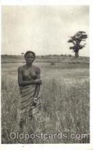 afr001296 - Daker ( Senegal), Jeune fille Lebou Dans La Brousse African Nude, Nudes, Postcard Post Card