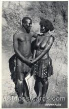 afr001302 - Adoration African Nude, Nudes, Postcard Post Card