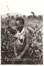 afr001307 - Le Kivu, Congo, Belge African Nude, Nudes, Postcard Post Card