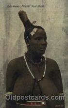 afr001324 - Zulu woman African Nude, Nudes, Postcard Post Card