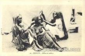 afr001339 - Djibouti African Nude, Nudes, Postcard Post Card