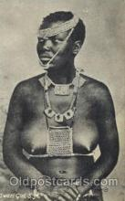 afr001368 - Sawazi Girl, S.A. African Nude Post Card Post Card