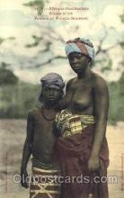 afr001383 - Femme et Fillette Soussou African Nude Post Card Post Card