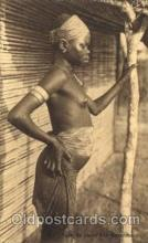 afr001395 - Jeune Fille Bozombo African Nude Post Card Post Card