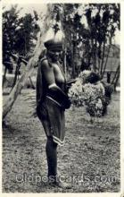 afr001411 - The Flower Girl African Nude Post Card Post Card