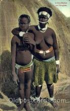 afr001413 - A Zulu Mother & Daughter African Nude Post Card Post Card