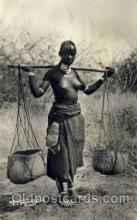 afr001432 - Tchad - Porteuse Toubou African Nude Post Card Post Card