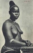 afr001453 - A Zulu Girl African Nude Post Card Post Card