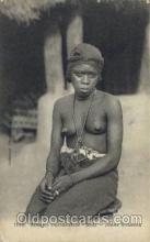 afr001456 - Jeune Soussou African Nude Post Card Post Card