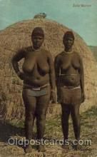 afr001460 - Zulu Woman African Nude Post Card Post Card